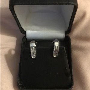 White Gold Baguettes Earrings